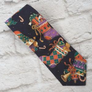 Season's Greetings  men's Stockings Christmas Tie